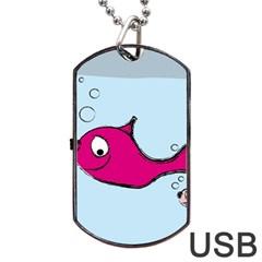 Fish Swarm Meeresbewohner Creature Dog Tag Usb Flash (two Sides) by BangZart