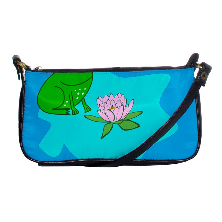 Frog Flower Lilypad Lily Pad Water Shoulder Clutch Bags