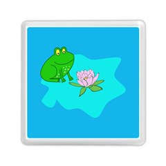 Frog Flower Lilypad Lily Pad Water Memory Card Reader (square)