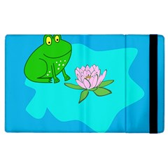 Frog Flower Lilypad Lily Pad Water Apple Ipad 3/4 Flip Case by BangZart