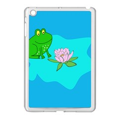 Frog Flower Lilypad Lily Pad Water Apple Ipad Mini Case (white)