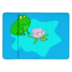 Frog Flower Lilypad Lily Pad Water Samsung Galaxy Tab 8 9  P7300 Flip Case