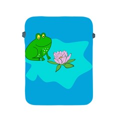 Frog Flower Lilypad Lily Pad Water Apple Ipad 2/3/4 Protective Soft Cases