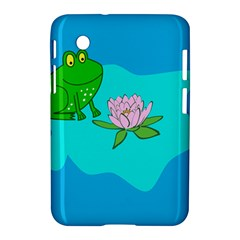 Frog Flower Lilypad Lily Pad Water Samsung Galaxy Tab 2 (7 ) P3100 Hardshell Case