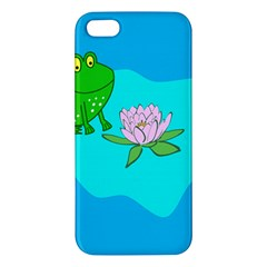 Frog Flower Lilypad Lily Pad Water Iphone 5s/ Se Premium Hardshell Case by BangZart