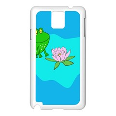 Frog Flower Lilypad Lily Pad Water Samsung Galaxy Note 3 N9005 Case (white)