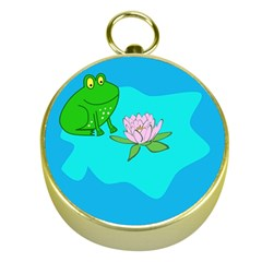 Frog Flower Lilypad Lily Pad Water Gold Compasses