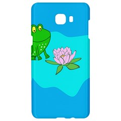 Frog Flower Lilypad Lily Pad Water Samsung C9 Pro Hardshell Case