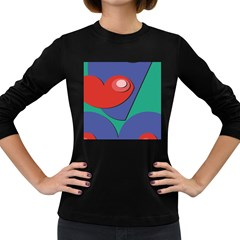 Clipart Portrait Illustration Women s Long Sleeve Dark T Shirts