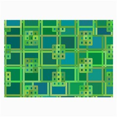 Green Abstract Geometric Large Glasses Cloth (2 Side)