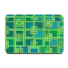 Green Abstract Geometric Small Doormat  by BangZart
