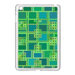 Green Abstract Geometric Apple Ipad Mini Case (white)