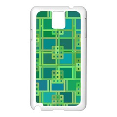 Green Abstract Geometric Samsung Galaxy Note 3 N9005 Case (white)