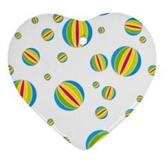 Balloon Ball District Colorful Ornament (heart)
