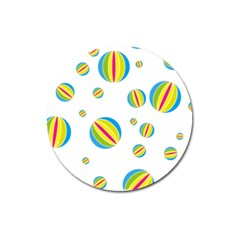 Balloon Ball District Colorful Magnet 3  (round) by BangZart