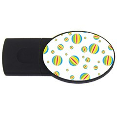 Balloon Ball District Colorful Usb Flash Drive Oval (2 Gb)