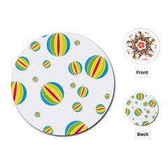 Balloon Ball District Colorful Playing Cards (round)