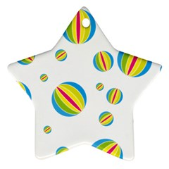 Balloon Ball District Colorful Star Ornament (two Sides)