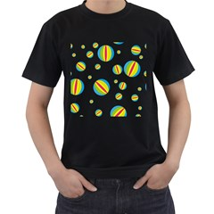 Balloon Ball District Colorful Men s T Shirt (black)