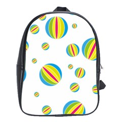Balloon Ball District Colorful School Bag (large)