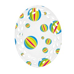 Balloon Ball District Colorful Ornament (oval Filigree)
