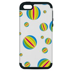 Balloon Ball District Colorful Apple Iphone 5 Hardshell Case (pc+silicone)