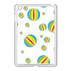 Balloon Ball District Colorful Apple Ipad Mini Case (white) by BangZart