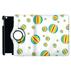 Balloon Ball District Colorful Apple Ipad 2 Flip 360 Case by BangZart