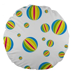 Balloon Ball District Colorful Large 18  Premium Round Cushions