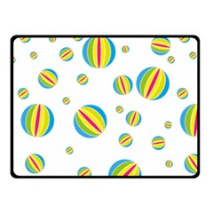 Balloon Ball District Colorful Double Sided Fleece Blanket (small)