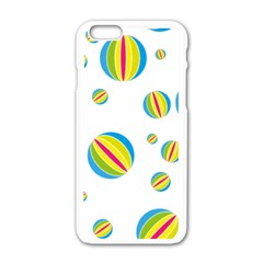Balloon Ball District Colorful Apple Iphone 6/6s White Enamel Case
