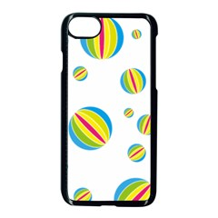 Balloon Ball District Colorful Apple Iphone 8 Seamless Case (black)
