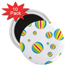 Balloon Ball District Colorful 2 25  Magnets (10 Pack)
