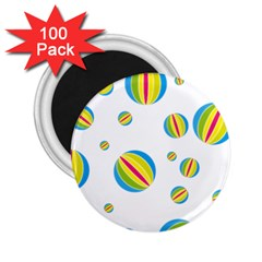 Balloon Ball District Colorful 2 25  Magnets (100 Pack)