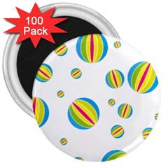 Balloon Ball District Colorful 3  Magnets (100 Pack)