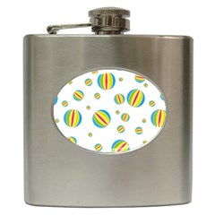 Balloon Ball District Colorful Hip Flask (6 Oz)