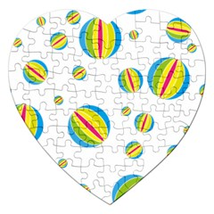 Balloon Ball District Colorful Jigsaw Puzzle (heart)