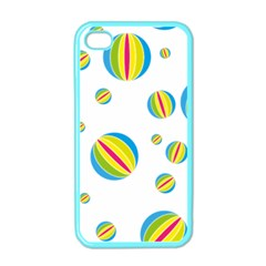 Balloon Ball District Colorful Apple Iphone 4 Case (color)