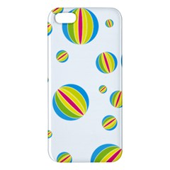 Balloon Ball District Colorful Apple Iphone 5 Premium Hardshell Case by BangZart