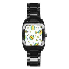 Balloon Ball District Colorful Stainless Steel Barrel Watch by BangZart