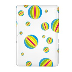 Balloon Ball District Colorful Samsung Galaxy Tab 2 (10 1 ) P5100 Hardshell Case  by BangZart
