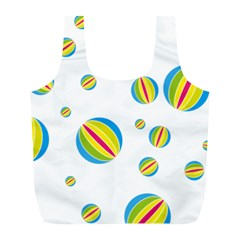 Balloon Ball District Colorful Full Print Recycle Bags (l)