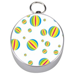 Balloon Ball District Colorful Silver Compasses by BangZart