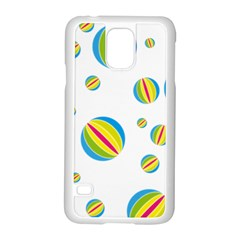 Balloon Ball District Colorful Samsung Galaxy S5 Case (white) by BangZart