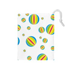 Balloon Ball District Colorful Drawstring Pouches (medium)