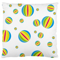 Balloon Ball District Colorful Large Flano Cushion Case (one Side)