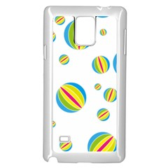 Balloon Ball District Colorful Samsung Galaxy Note 4 Case (white)