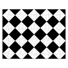 Grid Domino Bank And Black Rectangular Jigsaw Puzzl