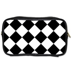 Grid Domino Bank And Black Toiletries Bags 2 Side by BangZart