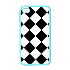 Grid Domino Bank And Black Apple Iphone 4 Case (color)
